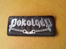POKOLGEP,SEW ON WHITE EMBROIDERED PATCH