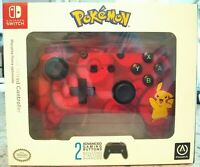 PowerA Pokemon Enhanced Wired Controller Nintendo Switch Pikachu Red New