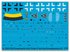 1/72 decals for One ME 109 G III /JG 5 Hptm Franz Daba 2004