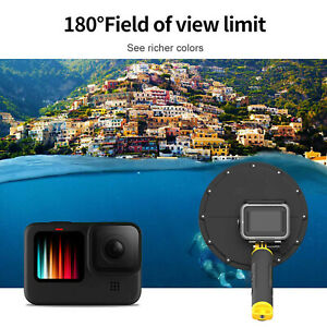TELESIN Dome Port Underwater Diving Camera Lens Cover Fits For GoPro Hero 9 GB