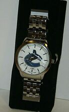 Vancouver Canucks Face Time NHL Wrist Watch Stainless Steel Japan Mov't NEW