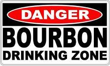 Danger Sign Bourbon Drinking Zone- Bar Gift Pool Room Man Cave