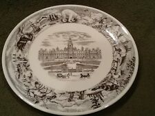 Royal Doulton Plate Tc1036 Peace Tower Canadian Centennial Plate 1867-1967 Vtge
