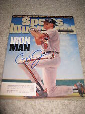 CAL RIPKEN JR SIGNED SPORTS ILLUSTRATED ORIOLES AUTO C