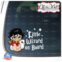 "Baby Harry and Pet Owl ""Little Wizard on Board"" Sign Vinyl Sticker"