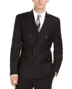 Calvin Klein Men's Slim-Fit Infinite Stretch Suit Jacket Blazer BLACK 40 T/L39.5