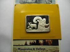 Bighorn Sheep Hamilton 1976 Very Rare 999 Silver Bar Coin Paper Sealed 250 Made