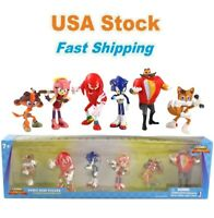 Sonic Boom Mini Figure Classic Collector's Set, 6 Pcs, Kids, Gifts, Cake Toppers