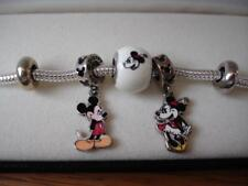 KAY JEWELERS CHARMED MEMORIES MICKEY & MINNIE MOUSE BRACELET STERLING SILVER NEW