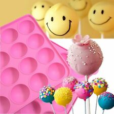 Hot 20 Silicone Tray Pop Cake Stick Mould Lollipop Party Cupcake Baking Mold AU