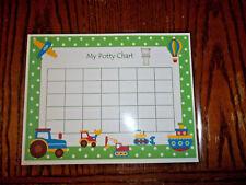 Single Laminated Transportation themed Potty Chart.  Daycare health and hygien e
