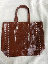Big Buddha Faux Ostrich Large Handbag Purse Tote