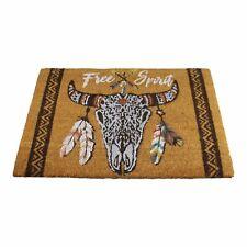 Bulls Head Coir Door Mat Free Spirit Non-slip Indoor Outdoor Doormat 60 x 40cm