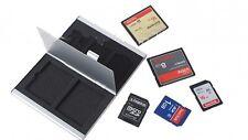 Aluminium Alloy Memory 2x CF + 3x PSV Card Storage Box Case Holder UK Seller