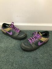 21a01500e1dc3b Vintage 2005 Womens Nike Dunk Low Size 9 Green Purple Skunk Nike SB De La  Soul