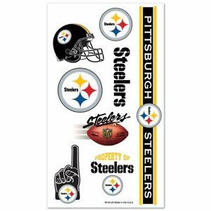 NFL PITTSBURGH STEELERS TEMPORARY TATTOO SHEET NEW