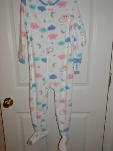 Carters Toddler Girl One-piece Footed Pajamas Size 5T