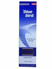 100 Bluebird double edge razor blades