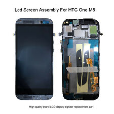 For HTC One M8 Black LCD Display Touch Screen Digitizer Replacement Gray Frame