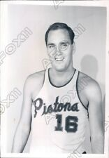 1963 Bob Ferry Detroit Pistons Basketball Power Forward & Center Press Photo