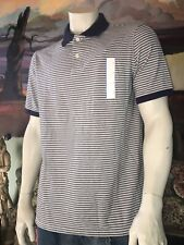 NEW~ Goodfellow Short Sleeve Striped Polo Navy & white color~size L & XL