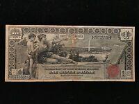 1896 $1 One Dollar Educational Silver Certificate VF Very Fine Note Bill Type
