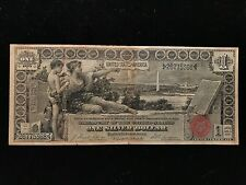 1896 $1 One Dollar Educational Silver Certificate VF Very Fine Note Bill Type