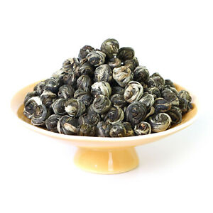 GOARTEA 100g Organic Nonpareil Supreme Jasmine Dragon Pearl Chinese Green Tea