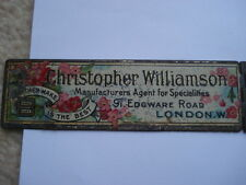 C1910 CHRISTOPHER WILLIAMSON MANUFACTURING AGENT FOR SPECIALITIES ADV RULER