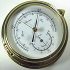 """Victory BA612 Brass 4"""" Barometer Thermometer """"Yacht"""" Dual Scale 135-958"""