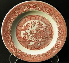 "Royal China Pink Willow Ware Salad Plate 7 1/4"" Red Excellent"