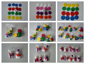 Counters and Dice packs, Tiddlywinks, 15mm / 22mm counters