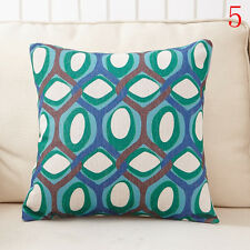 #5 Geometry Linen Pillow Case Throw Cushion Car Sofa Pillow Cover Christmas Gift