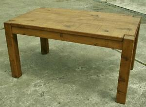 """""""any size made"""" SOLID WOODEN DINING KITCHEN TABLE RUSTIC PLANK Indigo Furniture"""