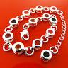Bracelet Bangle 925 Sterling Silver S/F Solid Pink Orange Sapphire Spinel Gems