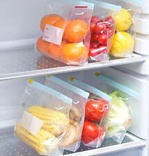 10pcs Store Food Pouches Bags Storage Liquid Freezer Resealable Soup Sauce Stew