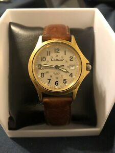 Ll Bean Military Style Watch French Made Taiwan Dial Rare!