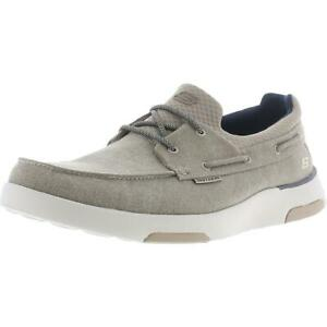 Skechers Mens Bellinger-Garmo Taupe Boat Shoes Sneakers 13 Wide (E) BHFO 1985