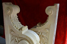 Pair Huge classic look Plaster Corbels architectural salvage design piece