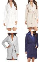 UGG Australia Blanche Plush Robe Shawl Collar Belted Spa High-low Hem
