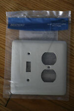NEW Bisque Stamped Steel Wall Plate Brainerd Single Switch-Duplex  64356 2 Gang