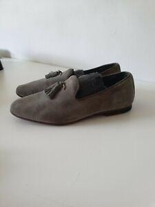 mens Grey suade sues size EU40