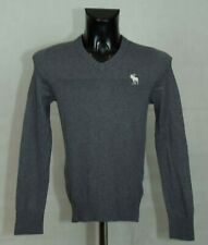 MENS BOYS ABERCROMBIE AND FITCH JUMPER V NECK COTTON SIZE XS ( LABEL S) VGC