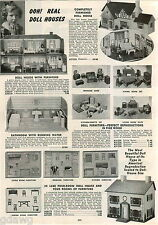 1942 ADVERT Doll House English Tudor Colonial Furniture Toy Sewing Machine