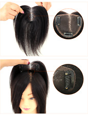 TOP Hand-made mono 100% Human Hair Topper Hairpiece Top Piece 7*9cm