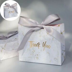 1/5PC Wedding Favor Paper Bags Baby Shower Birthday Party Gift Present Candy Box