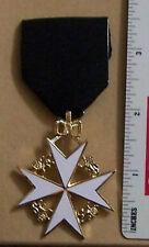 UK Masonic Mason Medieval Knight St. John Templar Order Jewel Lodge Medal Award