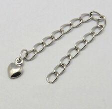 HERZ Tropfen - Massiv  925 sterling silber armband/halskette verlängerung