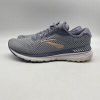 Brooks Womens Adrenaline GTS 20 1202961B073 Grey Gold Running Shoes Size 10 B