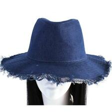 blue jean denim fedora floppy hat cap  xx